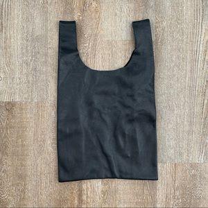 Baggu Black Leather Medium Tote